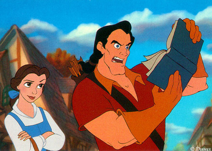 Gaston : How can আপনি read this? There's no pictures ! Belle : Well, some people use their _________.