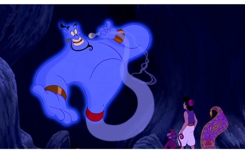 How many Дисней characters besides those of Aladdin😅 Appear in the original film