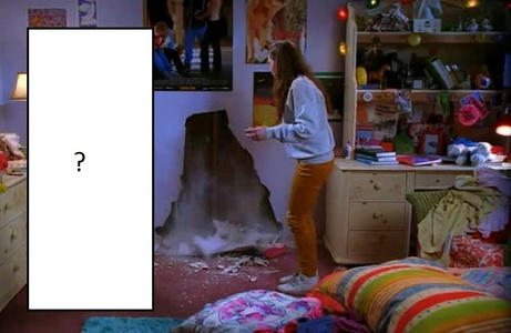 Who did make the hole in the wall?