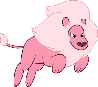 What is the name of Steven's pet lion?