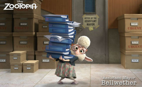 Who voiced Dawn Bellwether?