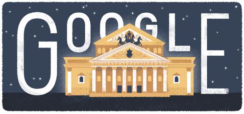 구글 is celebrating ______th Anniversary of the Bolshoi Theater's Foundation ?