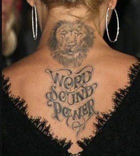 Whose tattoo is this ?