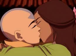 How many times Aang and Katara kissed?