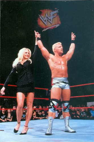 Debra was famous for managing Jeff Jarrett but which of these huge stars did she manage briefly in 2001?