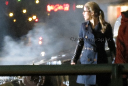 Which episode of Arrow was Emily filming here?