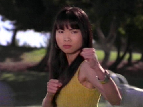 What words did Zordon use to describe Trini when he informed her that she was going to be the Yellow Power Ranger?