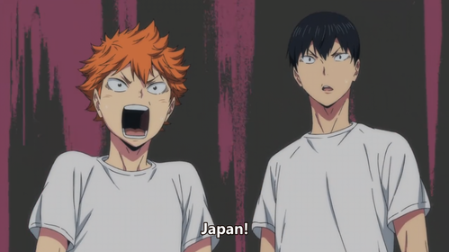 What episode did Hinata and Kageyama met Ushijima personally?