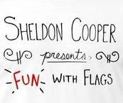 """Sheldon's podcast """"Fun with Flags"""" teaches about, well, flags! What is the official name for this field of study?"""