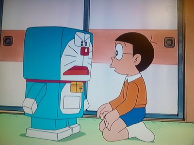 When did Mimi (Doraemon's sister) give him the gadget that made himself square so he can be 更多 hard on Noby?