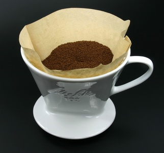 Who invented the first coffee filter?