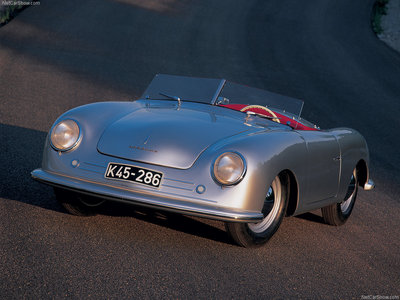 The first Porsche 356 had a modified Volkswagen engine as its heart. How much break horse power (bhp) did it develop?