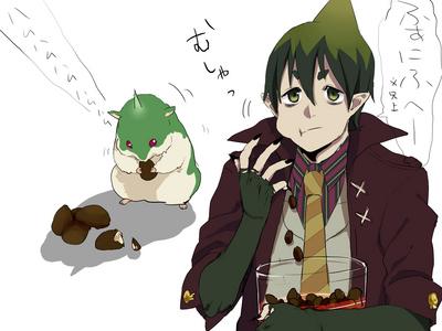 True atau False: Amaimon can turn into a hamster on his own