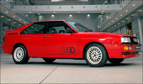 Many consider the Audi Quattro one of the finest sports coupés ever built. How much power did its 2.1-litre turbocharged engine originally produce?
