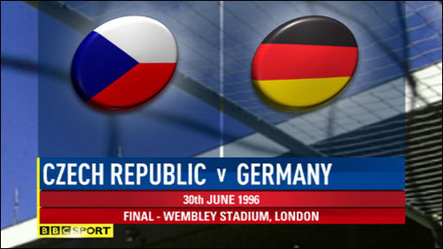 Which player scored both of Germany's goals in the 2-1 victory over the Czech Republic in the UEFA Euro 1996 Final?
