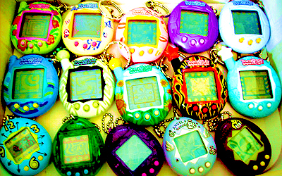 What was NOT a brand of digital pet, like the ones in this picture?