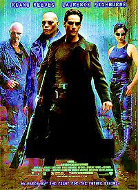 Year: 1999. Stars: Keanu Reeves, Laurence Fishburne. Title?