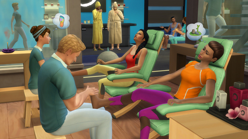 How many different types of massage can a Sim get?
