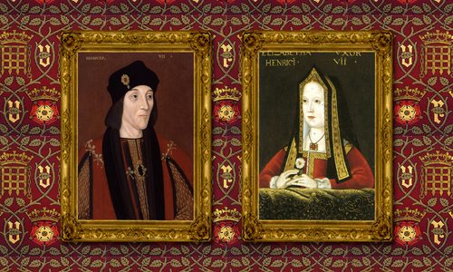How many times removed are Henry VII and Elizabeth of York the great-grandparents of Elizabeth II?