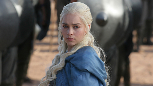 True or False: Her hair in Game of Thrones is her actual hair?