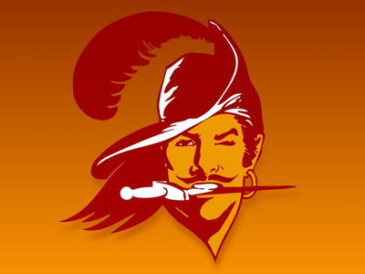 The first Tampa Bay Buccaneers logo was a picture of a swashbuckler with a knife held is his teeth. Who was this corsair better known as?