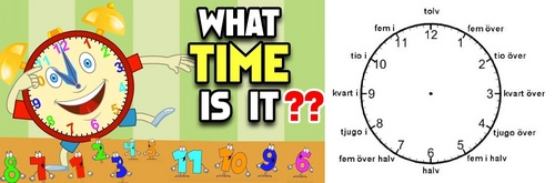 """How do 당신 say """"What time is it?"""" in Swedish?"""