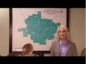 The map of Pawnee is a flipped version of which city?
