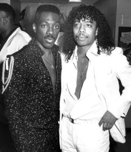Who us this man in the photograph with Rick James