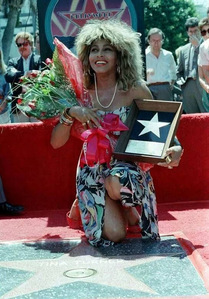 What 年 did Tina Turner get a 星, 星级 on the Hollywood Walk Of Fame