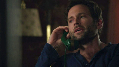 Who is August calling in this scene?