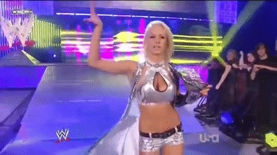 To Whom diva did she get her first divas title?