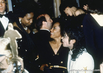 Who is this lady talking with Michael and Diana Ross