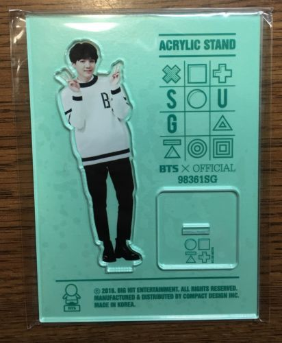 Which member received a Min Suga acrylic stand for natal from Suga?
