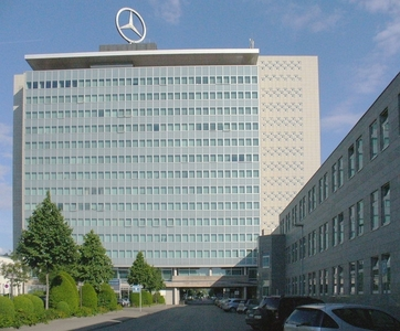 In which German city are Daimler AG and Mercedes-Benz headquartered?