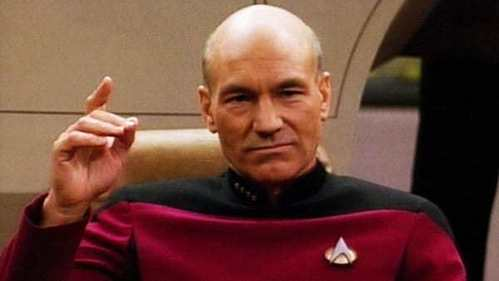On 星, つ星 Trek The 次 Generation Patrick Stewart has portrayed Capt. Picard, a new captain of the starship Enterprise.What was Capt. Picard's first name?