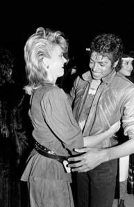 Who is this lady in the photograph with Michael