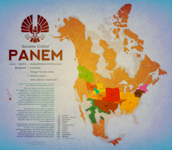 On Hunger Games franchise Panem is divided on dozen districts. How many different parts does Panem actually have,including Capitol & all other districts together?