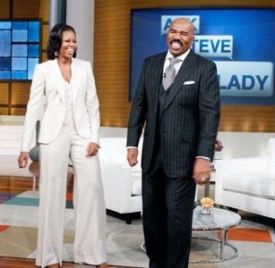What año did Michelle Obama make an appearance on The Steve Harvey mostrar