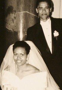 What mwaka were Barack and Michelle married