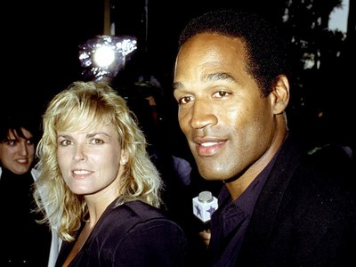 What year was O. J. Simpson and second wife, Nicole, divorced