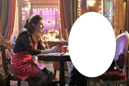 Who is sitting beside Martha?