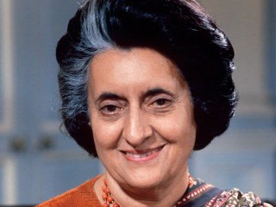 What jaar was Indira Gandhi assassinated