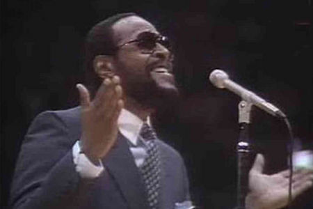 Marvin Gaye sang the national anthem at the 1983 NBA All-Star Game
