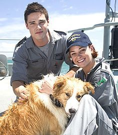 This is a picture of spinne & Bomber, a Liebe couple on a beliebt Australian TV series/show Sea Patrol. What was the name of a ship they've both once served on?