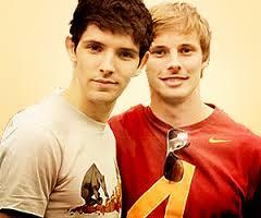 Back in 2009, when still on set of BBC Merlin, both Colin morgan & Bradley James performed a secret ritual of bonding for life. They became what exactly?