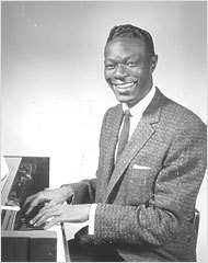 """Nat """"King"""" Cole was the first African-American entertainer to have his own variety Zeigen in the late-50's"""