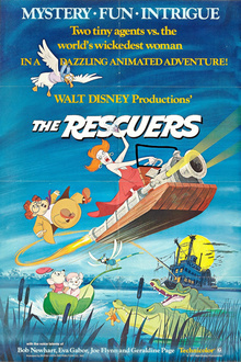 What was the name of the little girl in 'The Rescuers' that needs help?