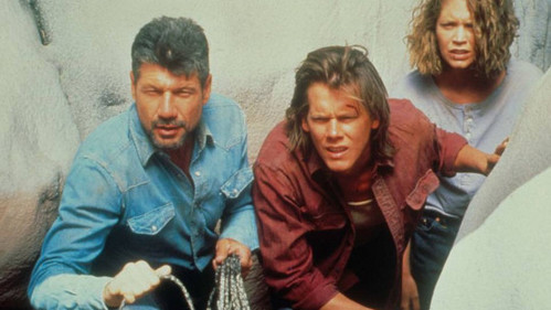 What is the name of the town attacked da the sand creatures in Tremors?