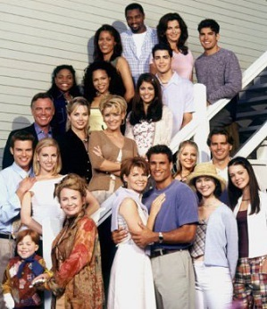 What populair US TV soap is this full cast group portrait from?