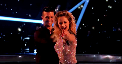 What score did Lindsey and Mark earn for their Cha-Cha-Cha?
